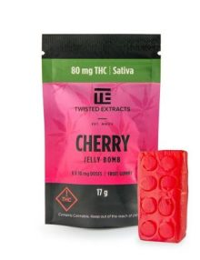 Cannabis Candy Twisted Extracts Cherry Jelly Bomb