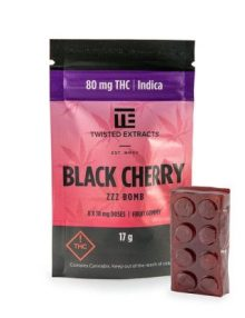 Cannabis Candy Black Cherry Zzz Jelly Bomb Indica (80mg)